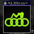 Audi Sexy D1 Decal Sticker Lime Green Vinyl 120x120