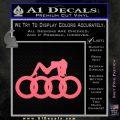 Audi Sexy D1 Decal Sticker Pink Emblem 120x120