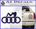 Audi Sexy D1 Decal Sticker PurpleEmblem Logo 120x97