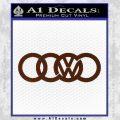 Audi VW Decal Sticker BROWN Vinyl 120x120