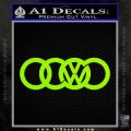 Audi VW Decal Sticker Lime Green Vinyl 120x120