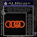 Audi VW Decal Sticker Orange Emblem 120x120