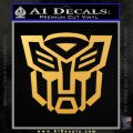 Autobot Decal Sticker Transformers ALT Gold Vinyl 120x120