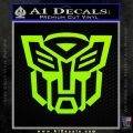 Autobot Decal Sticker Transformers ALT Lime Green Vinyl 120x120