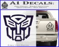 Autobot Decal Sticker Transformers ALT PurpleEmblem Logo 120x97
