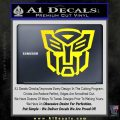 Autobot Decal Sticker Transformers ALT Yellow Laptop 120x120