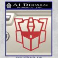 Autobot Retro Decal Sticker Transformers Red 120x120