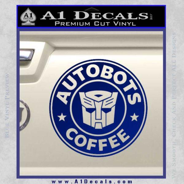 Autobots Coffee Starbucks Decal Sticker 187 A1 Decals
