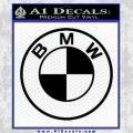 BMW Decal Sticker ALT Black Vinyl 120x120