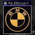 BMW Decal Sticker ALT Gold Vinyl 120x120