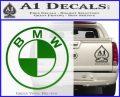BMW Decal Sticker ALT Green Vinyl Logo 120x97