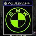 BMW Decal Sticker ALT Lime Green Vinyl 120x120