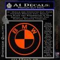 BMW Decal Sticker ALT Orange Emblem 120x120
