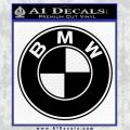 BMW Official Emblem Decal Sticker Black Vinyl 120x120