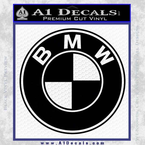 BMW Official Emblem Decal Sticker Black Vinyl