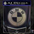 BMW Official Emblem Decal Sticker Carbon FIber Chrome Vinyl 120x120
