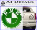 BMW Official Emblem Decal Sticker Green Vinyl Logo1 120x97