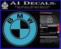 BMW Official Emblem Decal Sticker Light Blue Vinyl 120x97