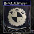 BMW Official Emblem Decal Sticker Metallic Silver Emblem 120x120