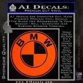 BMW Official Emblem Decal Sticker Orange Emblem 120x120