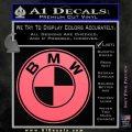 BMW Official Emblem Decal Sticker Pink Emblem 120x120