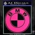BMW Official Emblem Decal Sticker Pink Hot Vinyl 120x120