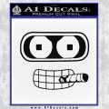 Bender Face Cigar Decal Sticker Futurama Black Vinyl 120x120