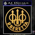 Beretta Retro CR Decal Sticker Gold Vinyl 120x120