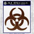 Biohazard Decal Sticker Standard D2 BROWN Vinyl 120x120