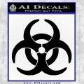 Biohazard Decal Sticker Standard D2 Black Vinyl 120x120