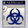 Biohazard Decal Sticker Standard D2 Blue Vinyl 120x120