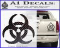 Biohazard Decal Sticker Standard D2 Carbon FIber Black Vinyl 120x97