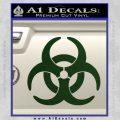Biohazard Decal Sticker Standard D2 Dark Green Vinyl 120x120