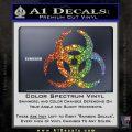 Biohazard Decal Sticker Standard D2 Glitter Sparkle 120x120