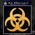 Biohazard Decal Sticker Standard D2 Gold Vinyl 120x120