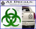 Biohazard Decal Sticker Standard D2 Green Vinyl Logo 120x97