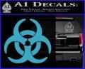 Biohazard Decal Sticker Standard D2 Light Blue Vinyl 120x97