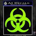 Biohazard Decal Sticker Standard D2 Lime Green Vinyl 120x120