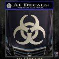 Biohazard Decal Sticker Standard D2 Metallic Silver Emblem 120x120