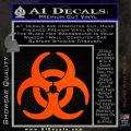 Biohazard Decal Sticker Standard D2 Orange Emblem 120x120