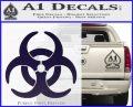 Biohazard Decal Sticker Standard D2 PurpleEmblem Logo 120x97