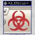 Biohazard Decal Sticker Standard D2 Red 120x120