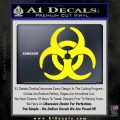 Biohazard Decal Sticker Standard D2 Yellow Laptop 120x120