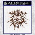 Bob Dylan Logo All Seeing Eye D1 Decal Sticker BROWN Vinyl 120x120