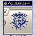 Bob Dylan Logo All Seeing Eye D1 Decal Sticker Blue Vinyl 120x120