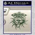 Bob Dylan Logo All Seeing Eye D1 Decal Sticker Dark Green Vinyl 120x120
