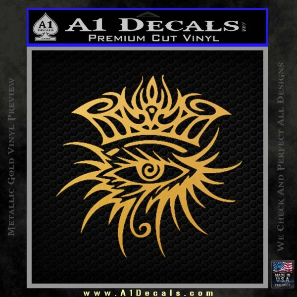 Bob Dylan Logo All Seeing Eye D1 Decal Sticker Gold Vinyl