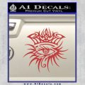 Bob Dylan Logo All Seeing Eye D1 Decal Sticker Red 120x120