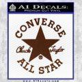 Chuck Taylor Decal Sticker Converse All Stars BROWN Vinyl 120x120