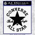 Chuck Taylor Decal Sticker Converse All Stars Black Vinyl 120x120